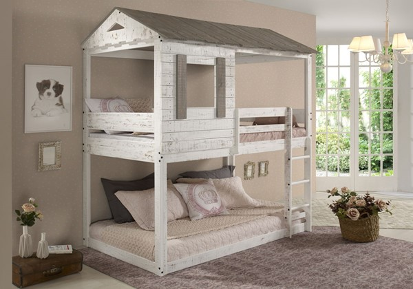 Acme Furniture Darlene Rustic Twin Over Twin Bunk Beds ACM-3813-BB-VAR