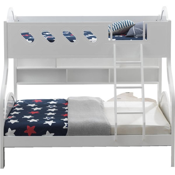 Acme Furniture Grover White Twin Over Full Storage Bunk Bed ACM-38160