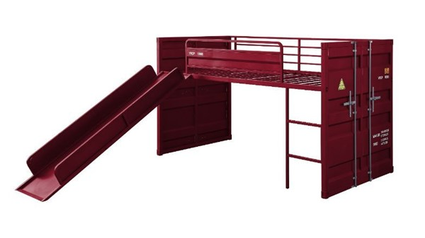 Acme Furniture Cargo Red Slide Twin Loft Bed ACM-38300