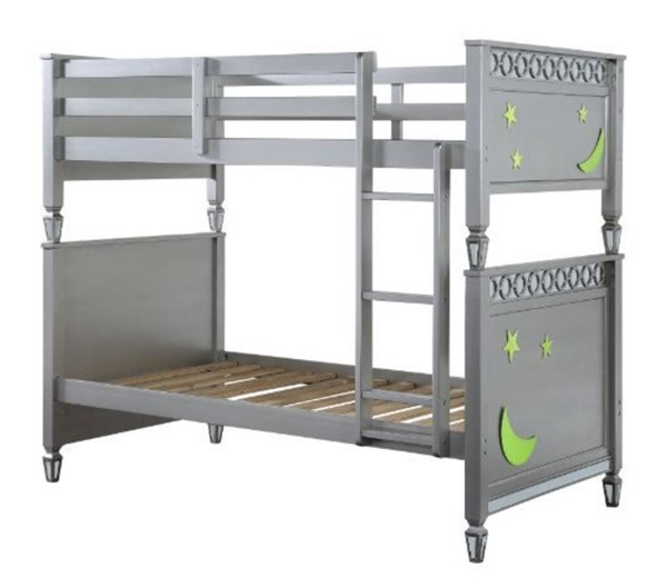 Acme Furniture Powell Silver Twin over Twin Bunk Bed ACM-38325
