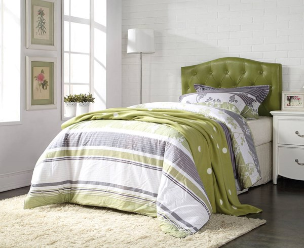 Viola Contemporary Green PU Headboards Only ACM-39125-HDBD-VAR