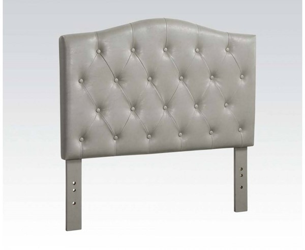 Viola Contemporary Gray PU Twin Headboard Only ACM-39132