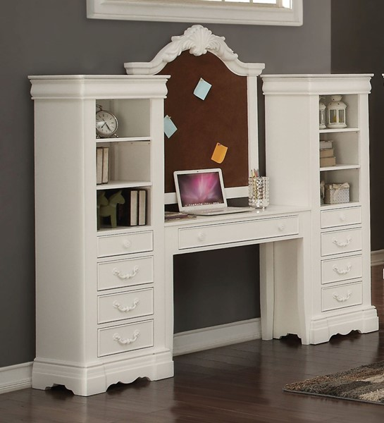 Acme Furniture Estrella White Computer Desk ACM-39155