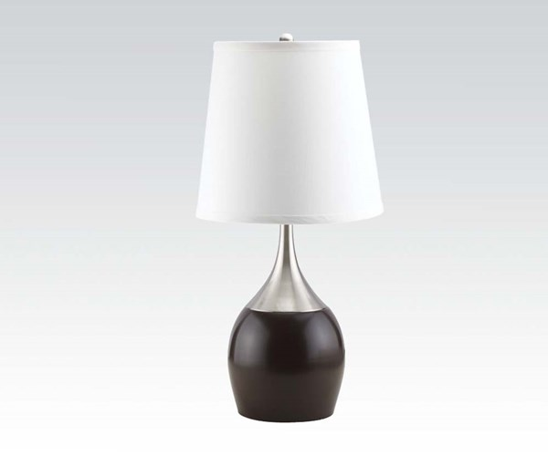4 White Drum Table Lamps W/Touch On Facility ACM-40025