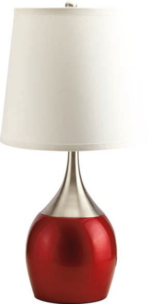 4 Red Drum Table Lamps W/Touch On Facility ACM-40029