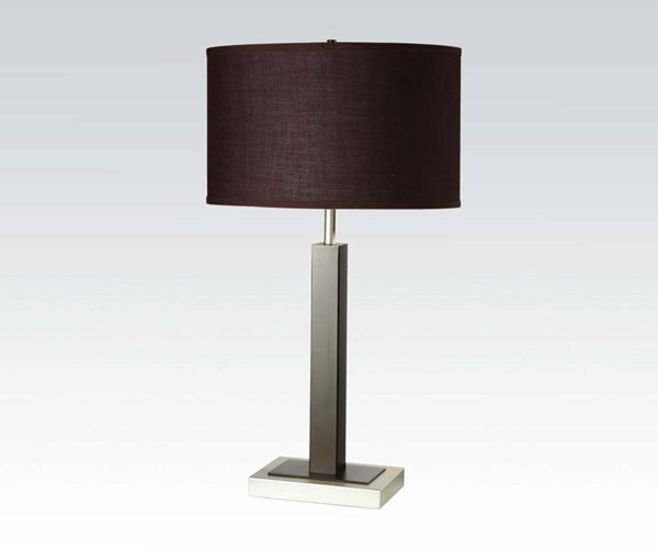 2 Keira Cappuccino Metal Drum Table Lamps ACM-40077