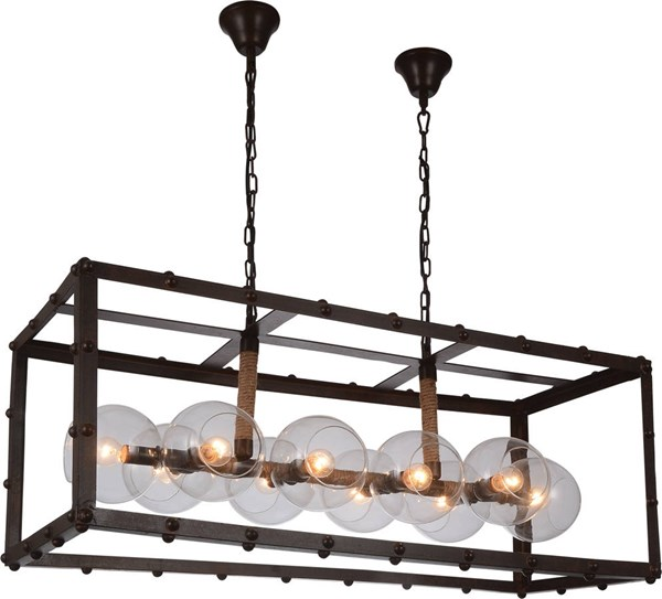 Okee Antique Coffee Metal Glass Ceiling Lamp ACM-40090