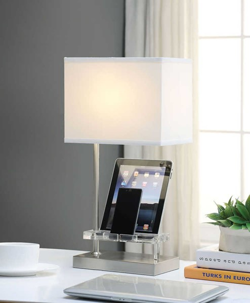 Acme Furniture Britt Sandy USB and Power Dock Table Lamp ACM-40120