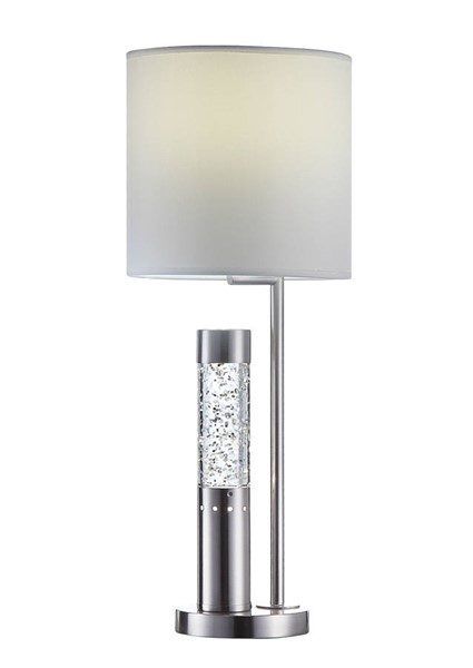 Acme Furniture Claus White Brushed Nickel Table Lamp ACM-40159
