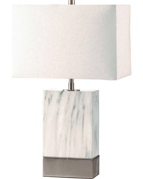 Acme Furniture Libe White Brushed Nickel Table Lamp ACM-40208