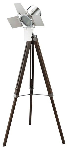 Acme Furniture Hollywood Antique Oak Chrome Floor Lamp ACM-40209