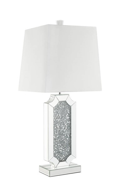Acme Furniture Noralie White Clear Glass Table Lamp ACM-40216