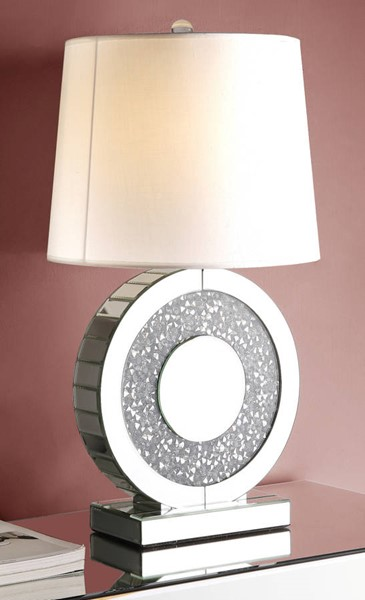 Acme Furniture Noralie Clear Round Table Lamp ACM-40221