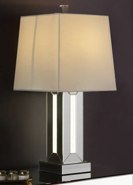 Acme Furniture Noralie Clear Glass Square Table Lamp ACM-40223