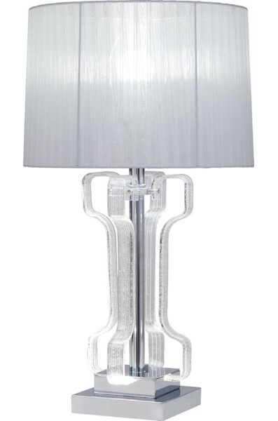 Acme Furniture Melinda Clear Chrome Table Lamp ACM-40344