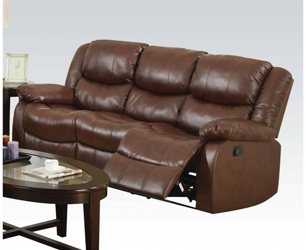 Fullerton Brown Bonded Leather Match Motion Sofa ACM-50010