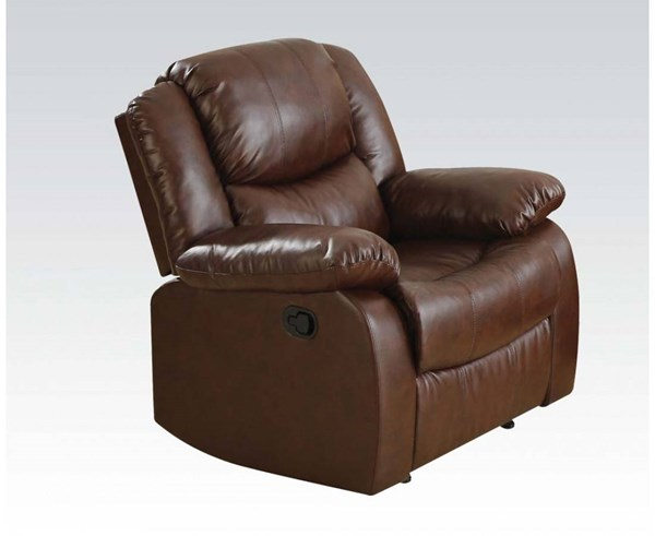 Fullerton Brown Bonded Leather Match Recliner ACM-50012