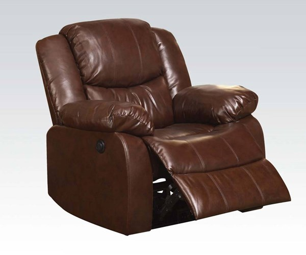 Fullerton Brown Bonded Leather Match Power Motion Recliner ACM-50202
