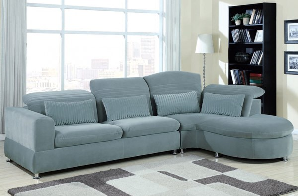Oron Contemporary Gray Sectional Set 50230 ACM-50230