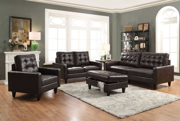 Acme Furniture Nate Espresso 3pc Living Room Set