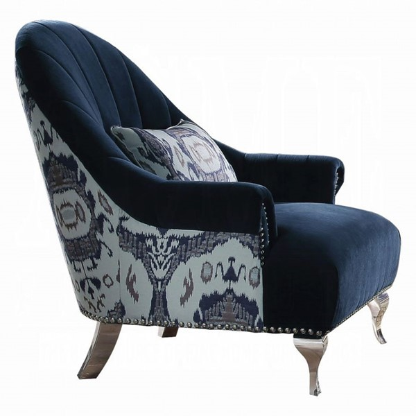 Acme Furniture Jaborosa Blue Chair with Pillow ACM-50347