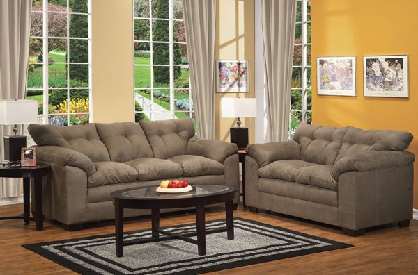 Lucille Sage Polyester Wood 3pc Living Room Set ACM-50370-S