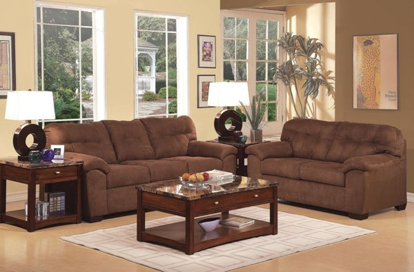 Aislin Espresso Polyester Wood Living Room Set ACM-50380-Set