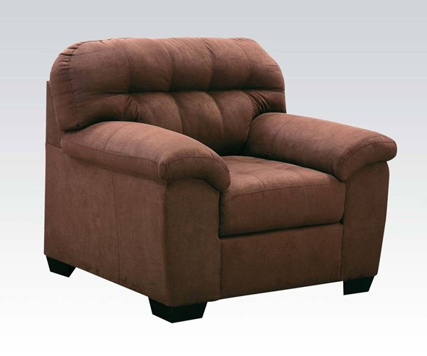 Aislin Espresso Polyester Wood Tight Back & Cushion Seat Chair ACM-50382
