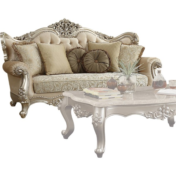 Acme Furniture Bently Champagne Sofa with 7 Pillows ACM-50660