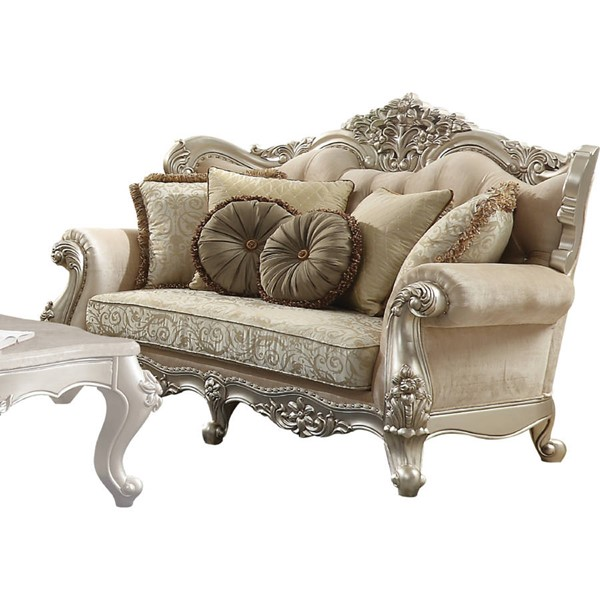 Acme Furniture Bently Champagne Five Pillows Loveseat ACM-50661