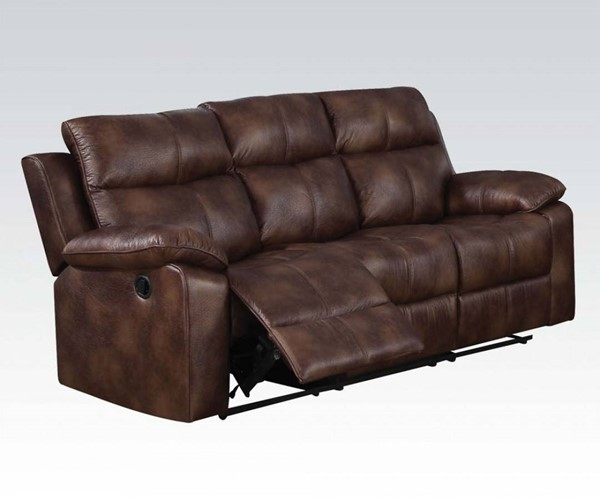 Dyson Light Brown Fabric Wood Motion Sofa ACM-50815