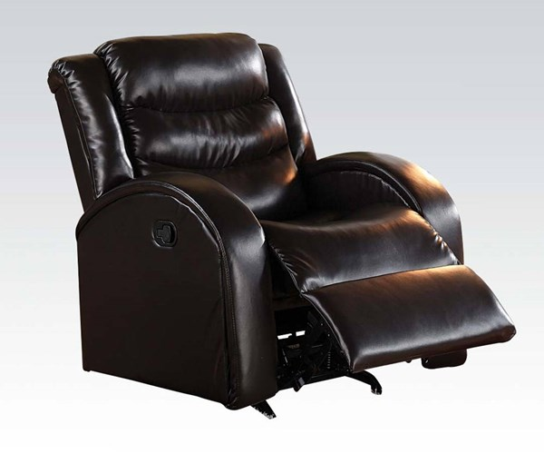 Noah Transitional Espresso Bonded Leather Match Rocker Recliner ACM-50832