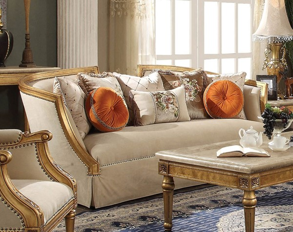 Acme Furniture Daesha Antique Gold Sofa ACM-50835