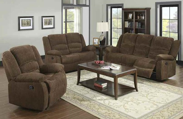 Bailey Dark Brown Fabric Living Room Set W/Pillow Top Arms ACM-51025-LR