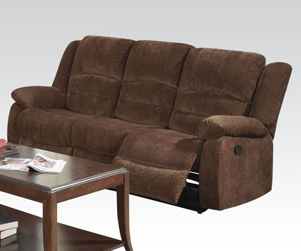 Bailey Dark Brown Fabric Motion Tight Back & Cushion Seat Sofa ACM-51025