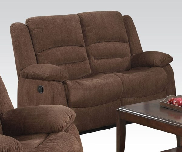Bailey Dark Brown Fabric Motion Loveseat ACM-51026
