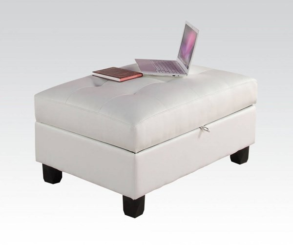 Kiva CollectionBonded Leather Ottoman w/Storage ACM-51175-O