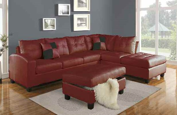 Acme Furniture Kiva Sectionals with Ottoman ACM-511-SEC-VAR