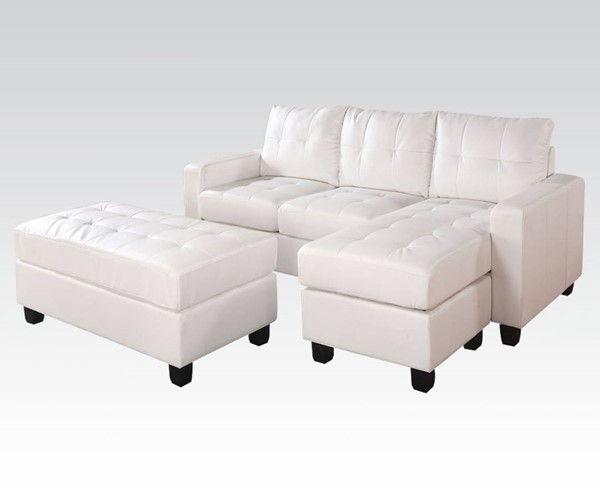 Acme Furniture Lyssa Reversible Chaise Sectionals and Ottoman ACM-51210-15-SF-VAR