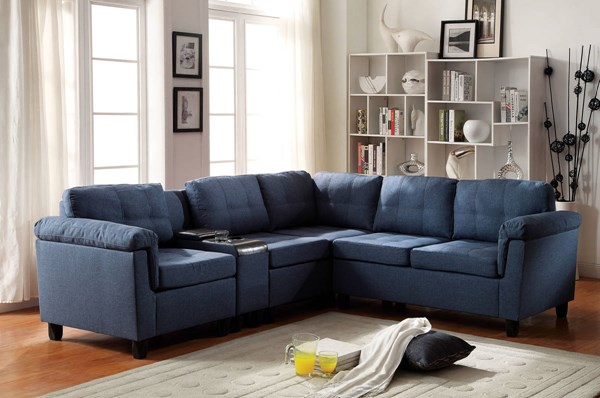 Acme Furniture Cleavon Reversible Sectional Sofas with Console ACM-5152-SEC-VAR