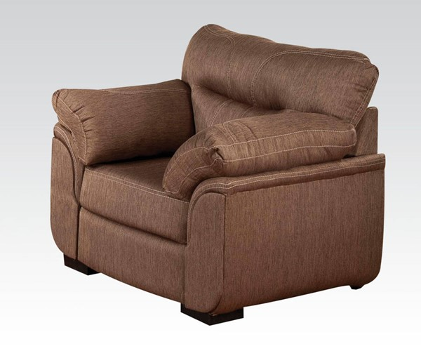 Avalon Cocoa Fabric Wood Tight Back & Seat Chair ACM-51692
