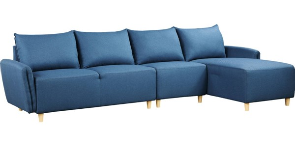 Acme Furniture Marcin Blue Reversible Sectional Sofa ACM-51820