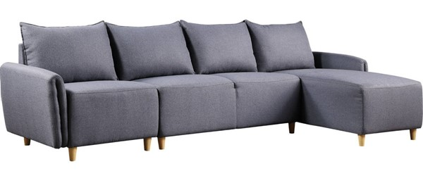 Acme Furniture Marcin Gray Reversible Sectional Sofa ACM-51830