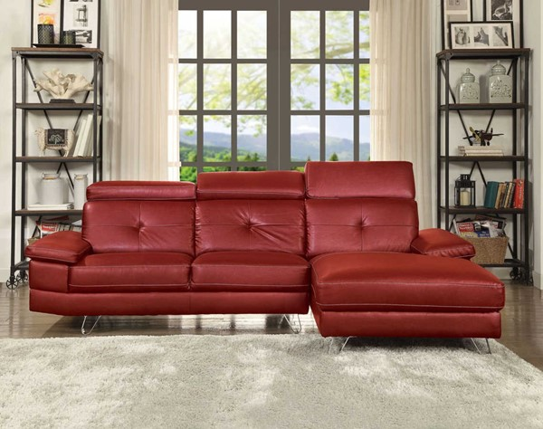 Acme Furniture Aeryn PU Sectional Sofas ACM-5204-SEC-VAR