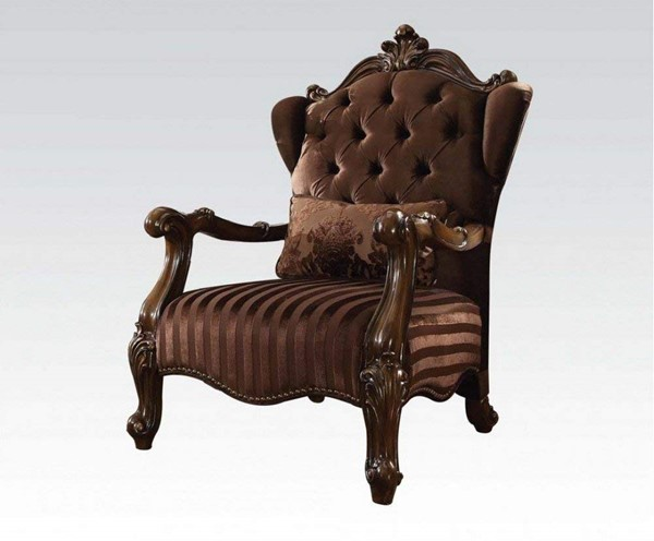 Acme Furniture Versailles Brown Chair with Pillow ACM-52082