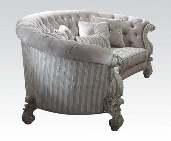 Acme Furniture Versailles Ivory Sofa with Five Pillows ACM-52085