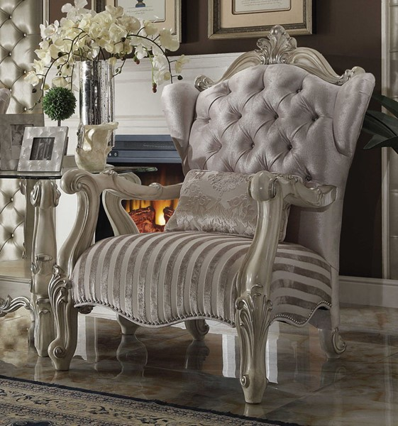 Acme Furniture Versailles Ivory Chair with Pillow ACM-52087
