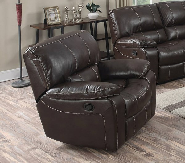 Kimberly Brown Faux Leather Metal Recliners ACM-52132-37-LR-VAR