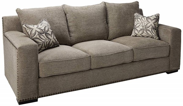 Acme Furniture Ushury Gray Sofa with Two Pillow ACM-52190