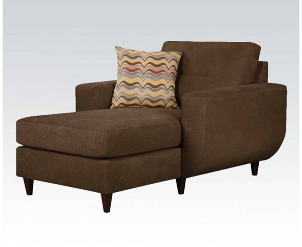 Eusebia Chocolate Wood Chaise w/1 Pillow ACM-52334